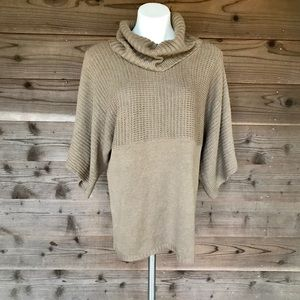 BCBG Paris Cow-neck Pullover Kimono Sleeve Sweater